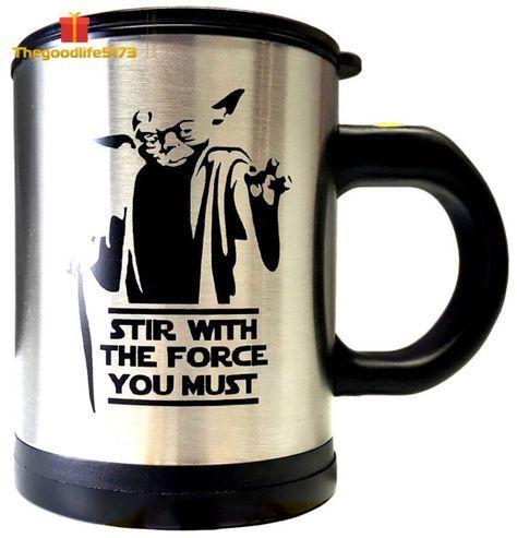Star Wars Darth Vader Coffee Mug Self Stirring Spinning Cup Fans Luke Skywalker