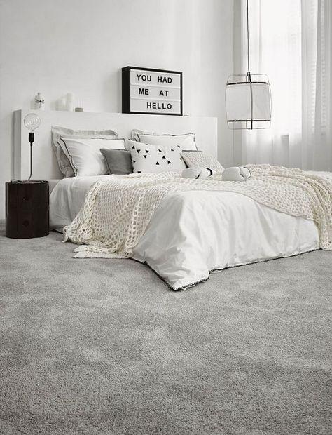 Verwonderlijk Tapijt voor slaapkamer in grijs (met afbeeldingen)   Slaapkamer GV-42