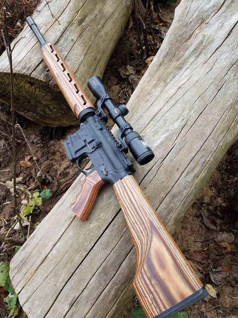 Call me a Fudd, but taking a rifle into deer camp just doesn't seem right if it doesn't have at least a little wood. Zombie Weapons, Weapons Guns, Guns And Ammo, Survival Rifle, M4 Carbine, Deer Camp, Shooting Guns, Custom Guns, Assault Rifle