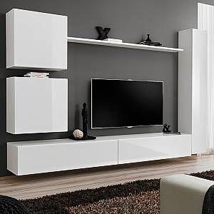 Kasalinea Meuble Tele Suspendu Blanc Lissandro 3 En 2020 Meuble Tv Suspendu Ensemble Meuble Tv Meuble Tele