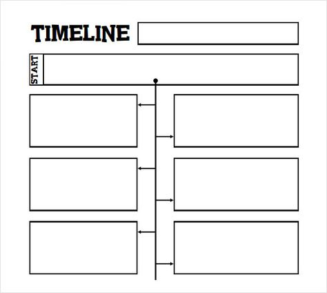 Printable Timeline Template For Kids Personal Timeline