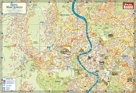 Mapa Rima Turisticka Pamatek Mapa Fontana Di Trevi Levna