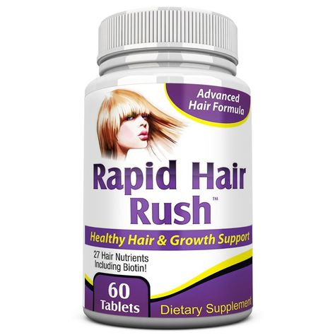 Rpaid Hair Rush: Natural Hair Growth Vitamins/Supplement – Elevate Recovery…
