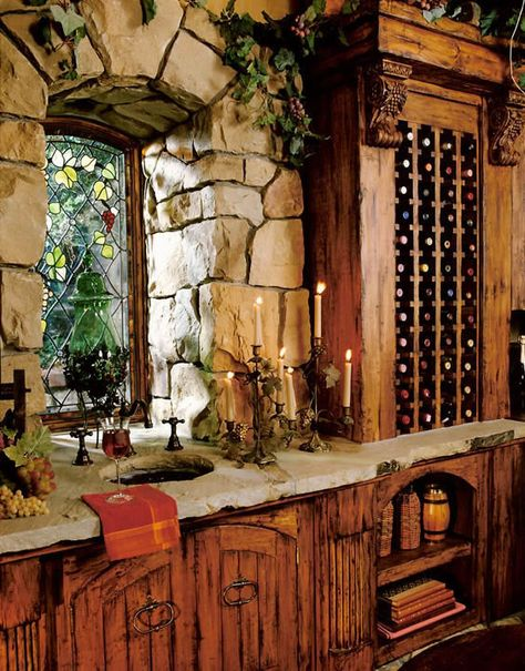 New Estates / wcell3.jpg LOVE the arched stone window and the cabinets..... who am I kidding.? all of it  http://whymattress.com/home-decoration