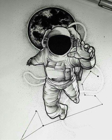 break dancing astronaut drawing - 474×591