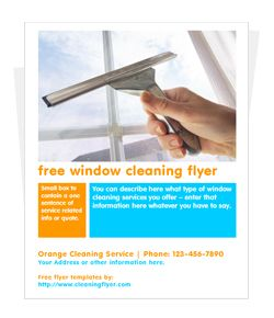 Free Window Cleaning Flyer Cleaning Flyers Window Cleaner