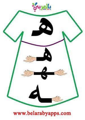 أشكال الحروف العربية حسب موقعها من الكلمة مواضع الحروف للاطفال بالعربي نتعلم Arabic Kids Arabic Alphabet Letters Arabic Alphabet