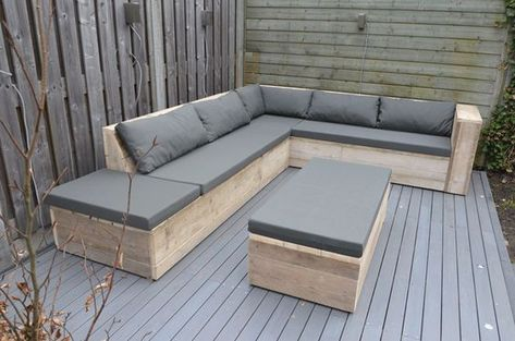 Conjuntos De Muebles Con Palets Para Terraza De Diseño