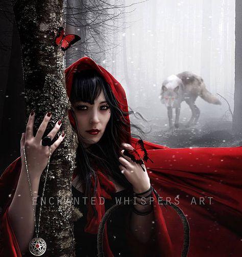 Red Riding Hood Fairytale art Fairytale print Fairytale
