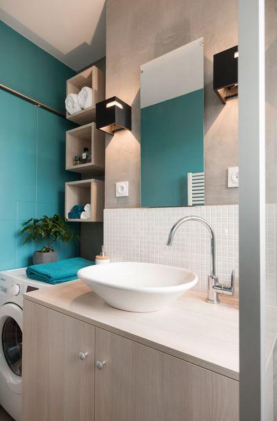Salle de bain colorée - 55 meubles, carrelage et peinture Interiors