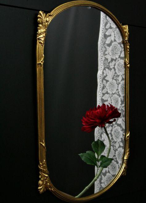 Franzosisch Antik Grosse Wand Spiegel Oval Spiegel Vintage Home