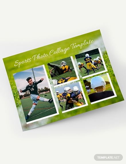 Free Sports Photo Collage Template Word Doc Psd Photo Collage Template Collage Template Photo Collage