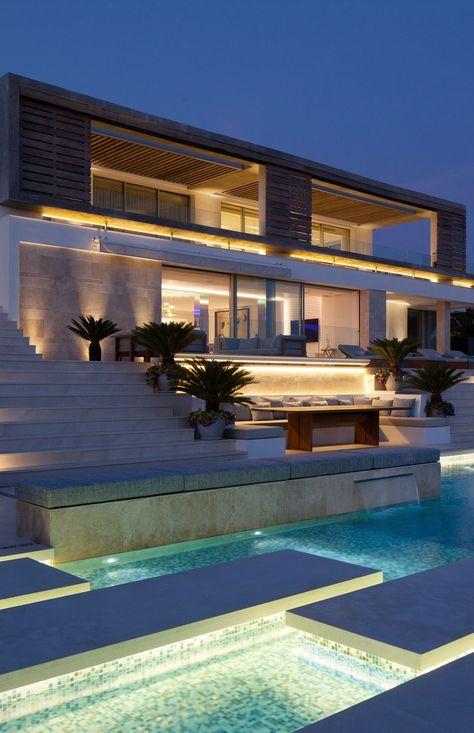 "MODERN ARCHITECTURE| Architecture Beast: Modern Villa ""Roca Llisa"" Located In Breathtaking Ibiza | bocadolobo.com/ #modernarchitecture #architecture"
