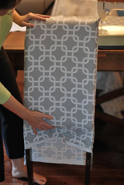 a place of gratitude How to Recover a Parson Chair is part of Dining chair slipcovers -