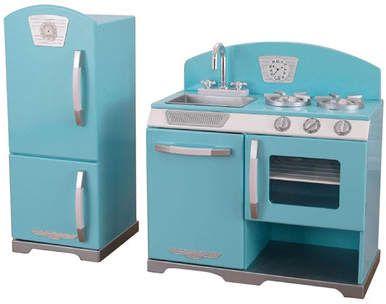 KidKraft 2 Piece Retro Kitchen and Refrigerator Set afflink   Kids ...