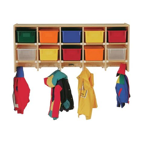 Kids Wooden Cubby Lockers Wooden Cubby Wall Mounted Coat Rack Cubby Storage