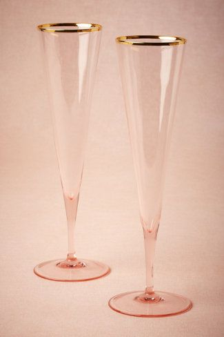Rosy-Cheeked Flutes (2) from BHLDN -I would love it if Pete & I