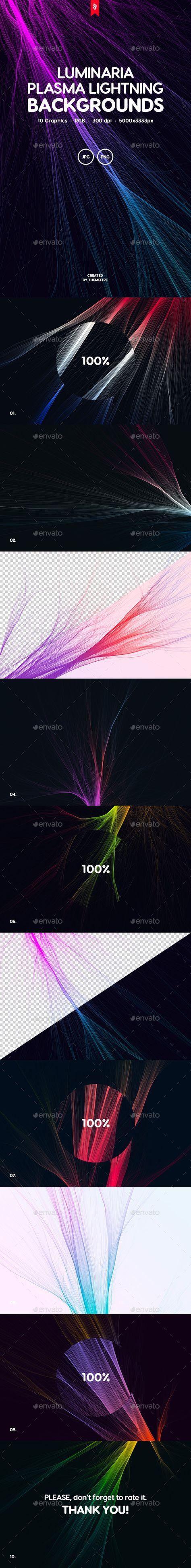 Luminaria - Plasma Lightning Background Set