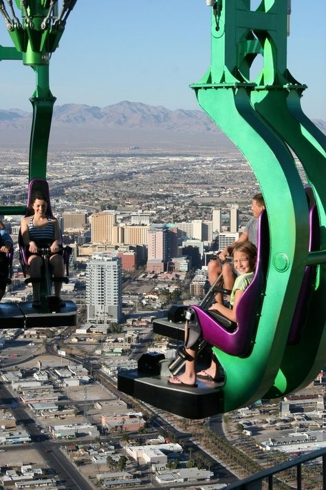 A ride at the Stratosphere Tower in Las Vegas. 23 Photos That Will Make Your Stomach Drop