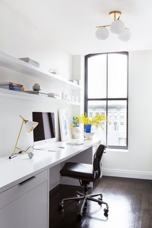 Again Another Example Of A Beautiful Design That S Not Expensive Or Difficult This Is Just White Walls Tiny Home Office Small Home Offices Home Office Design