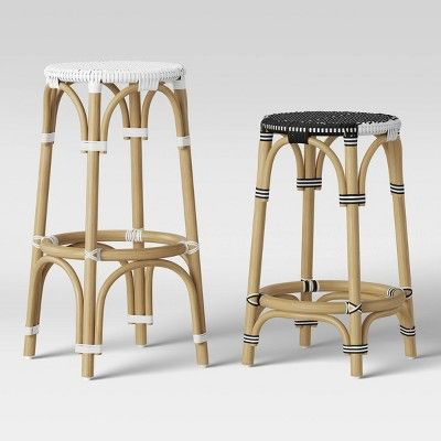 Perry Rattan Woven Stool Collection Threshold Target In 2020