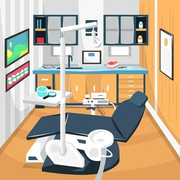 Clean Dentist Room Dental Care Concept Hospital With Full Equipment Dental Chairs For Cartoon Vector Illustration Room Clipart Desk Home Png And Vector With Room Cartoons Vector Dental Design