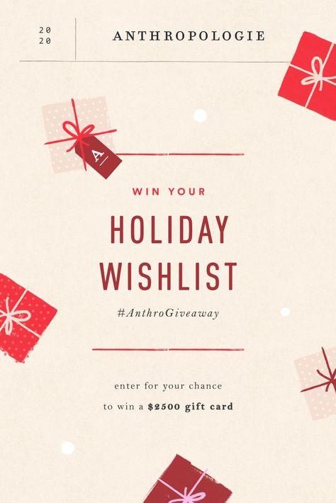 Anthropologie Gifts, Holiday Wishes, Marketing, Christmas Birthday, Giveaway, Official Rules, Pinterest Board, Cards Against Humanity, Treat Yoself