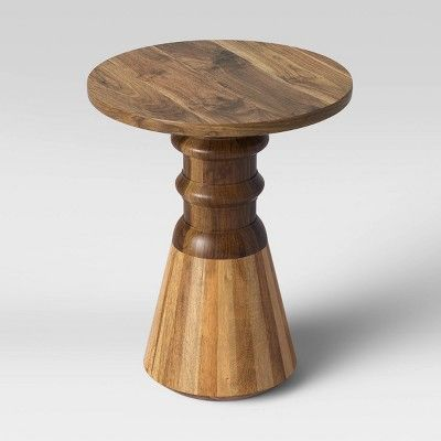 Serriola Wooden End Table Natural Opalhouse End Tables Accent Table Decor Metal End Tables