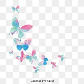 Design De Material De Borboleta Colorida Borboleta Colorido Animais Imagem Png E Vetor Para Download Gratuito Butterfly Background Butterfly Clip Art Butterfly Watercolor