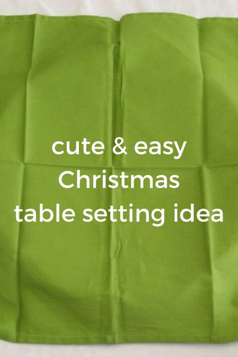 Decorate your Christmas dinner table decor idea on a budget. Check out how to make a Christmas tree napkin table scape idea for cheap. Compliment this holiday decor idea with dollar store items and host in style this Christmas 2020 #hometalk