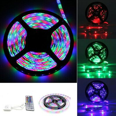 3m 5m 10m Smd3528 Non Waterproof Rgb Led Strip Light Dc12v 44 Key Ir Remote Co Ebay Rgb Led Strip Lights Strip Lighting Led Strip Lighting