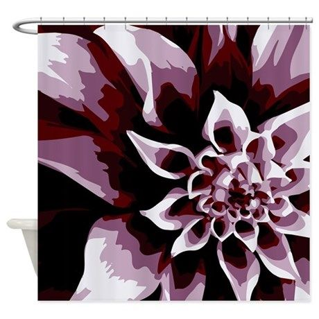Deep Purple Flower Shower Curtain By Mightyawesomedesign Flower