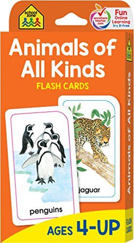 School Zone Animals Of All Kinds Flash Cards Ages 4 A Https Www Amazon Com Dp 0938256971 Ref Cm Sw R Pi Dp U X Lb School Zone Flashcards Word Pictures
