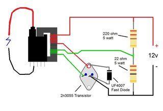 2n3055 Flyback Transformer Driver for Beginners | Esquemas ... on power schematic, nautilus schematic, audio schematic, capacitor schematic,