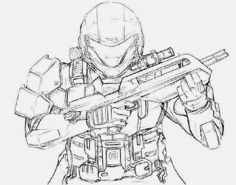 Halo Coloring Pages | Free Coloring Pages | Coloring pages for ...
