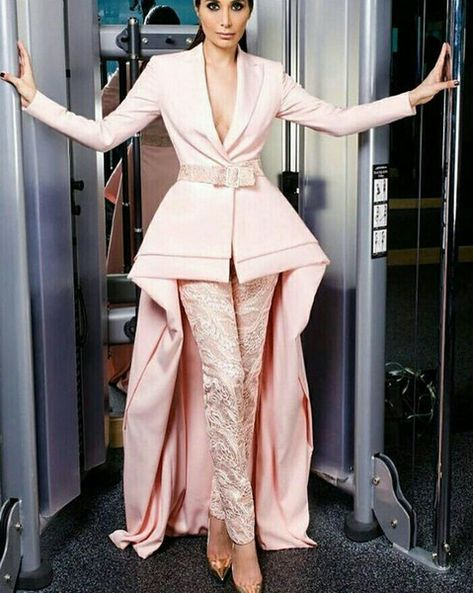 2018 New Fashion Prom Dresses Suit Skirt With Lace Pants Pink ...