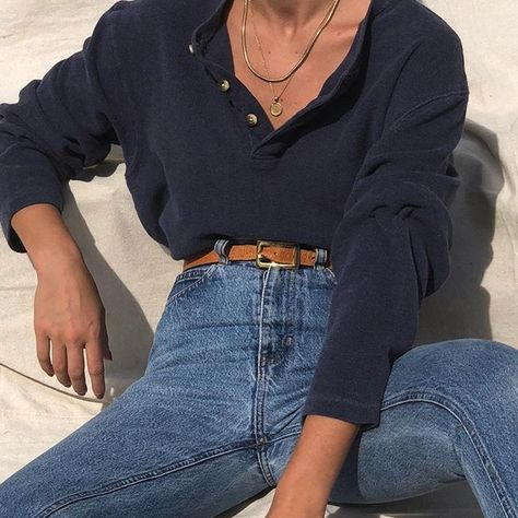 Favorite look from the archive 💙 similar Henley's being listed this week