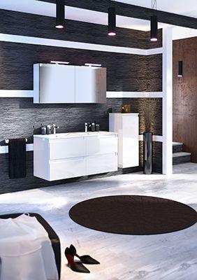 Meubles Salle De Bains Discac Collection Rivage Cristal Blanc Meuble Salle De Bain Mobilier De Salon Salle De Bain