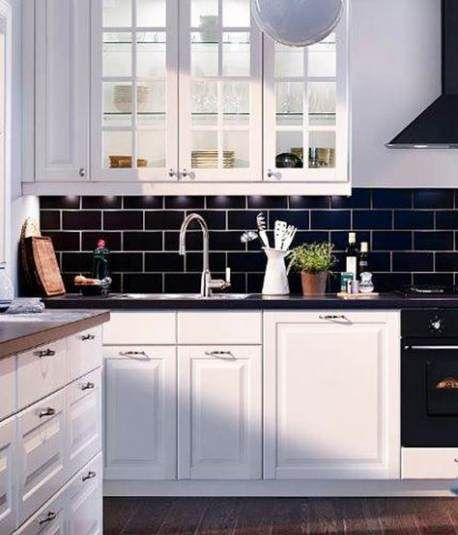 21 Ideas Kitchen Countertops Black Back Splashes Kitchen Tiles