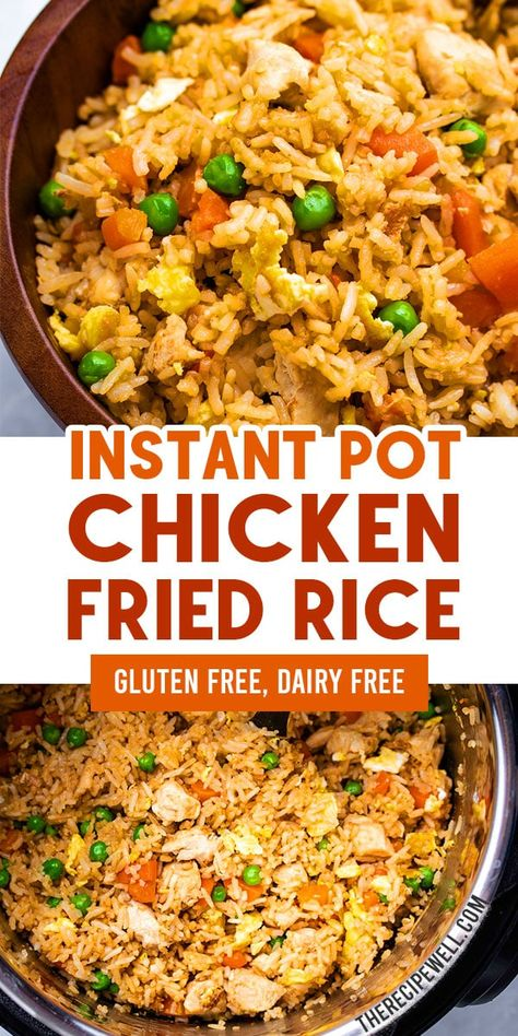 recipes easy Instant Pot Chicken Fried Rice is a fast and easy one-pot meal. This savoury recipe is perfect for a weeknight dinner or meal prep lunch! The Recipe Well for more great recipes! Best Instant Pot Recipe, Instant Pot Dinner Recipes, Instant Pot Chinese Recipes, Instant Recipes, Instant Pot Chicken Rice Recipe, Easy Chicken Fried Rice Recipe, Fried Rice Recipes, One Pot Recipes, Instant Pot Meals