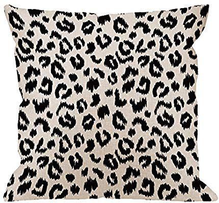 hgod designs leopard pillow cover