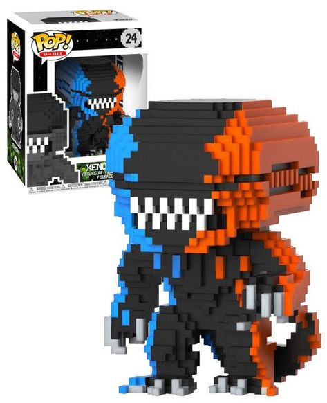 8-Bit Orange /& Bleu Xenomorph Funko Pop Vinyl Figure Alien #24