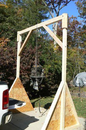 Wood Gantry Crane In 2019 Garage Hoist Wooden Diy Wood