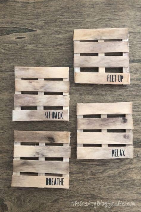 Making Mini Wood Pallet Coasters | Crafty Blog Stalker