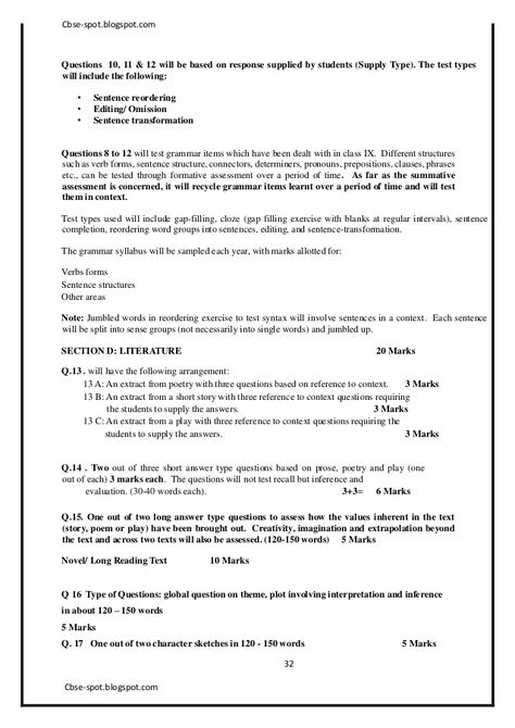 contribution regional level cbse syllabus how the students best - Complaint Format