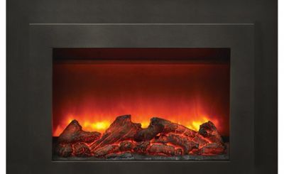 Amantii 34 Inch Electric Fireplace Insert With Black Steel