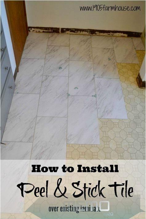Oct 22 2019 Transform A Bathroom Floor On A Budget With Peel