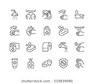 Simple Set Of Hygiene Related Vector Line Icons Contains Such