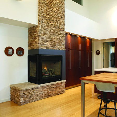 Superior Drt40cr L Direct Vent Corner Gas Fireplace
