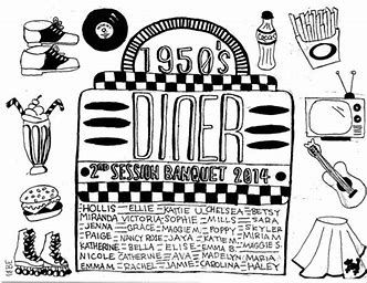 Image Result For 50s Diner Coloring Pages 50s Diner Diner Coloring Pages